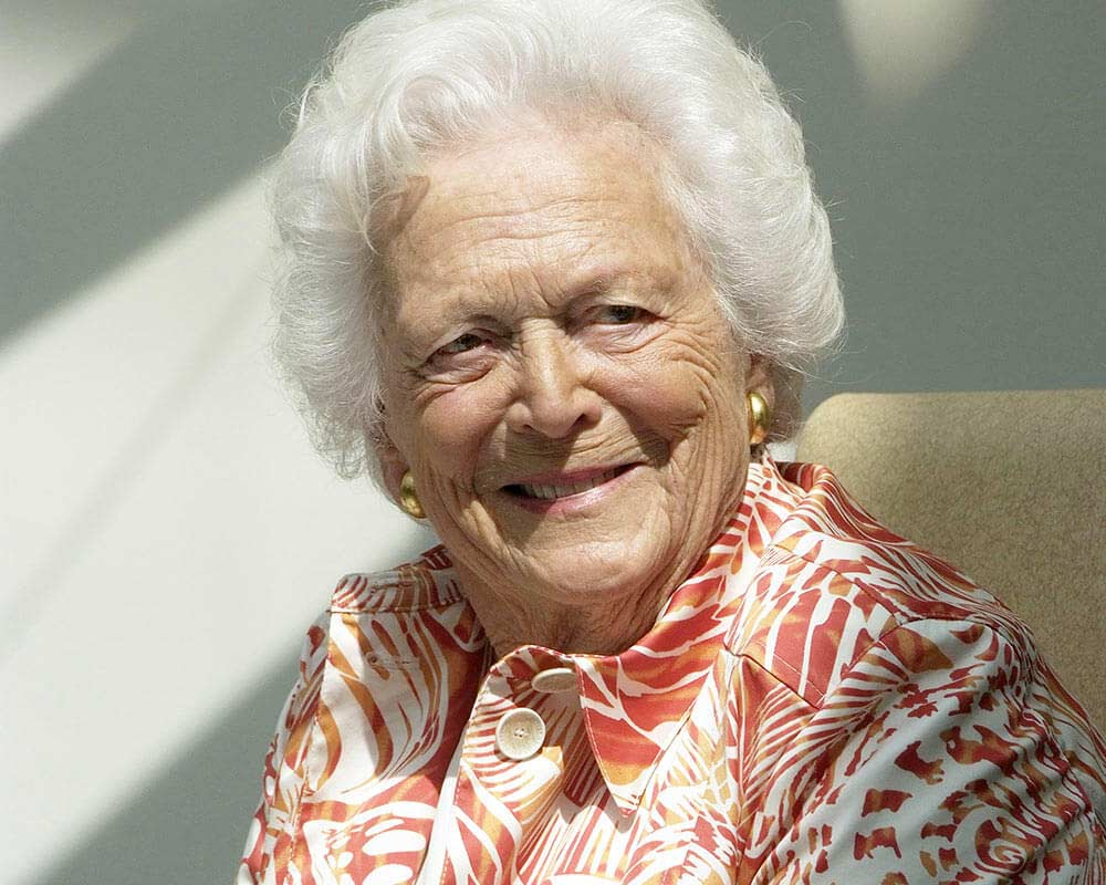 Barbara Bush on her 86th birthday