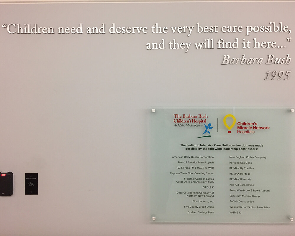 Quote from Barbara Bush at the PICU