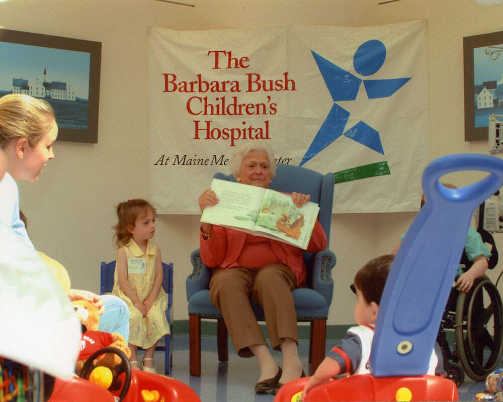 Mrs. Bush showing a picture book