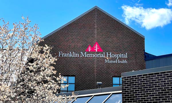 Exterior of Franklin Memorial Hospital