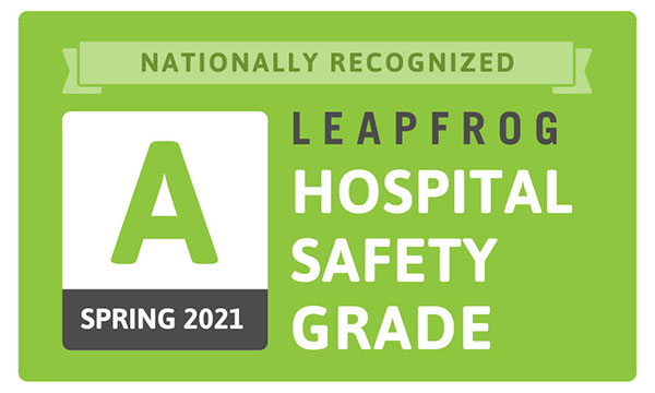 "Leapfrog Hospital Safety Grade ""A"" Spring 2021"