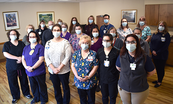 The staff of Memorial Hospital's Merriman House