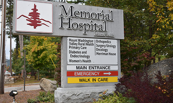mem hosp sign