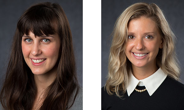 Hallie Bates and Beth Garbitelli, third-year medical students enrolled in the Maine Track program of Tufts University School of Medicine.