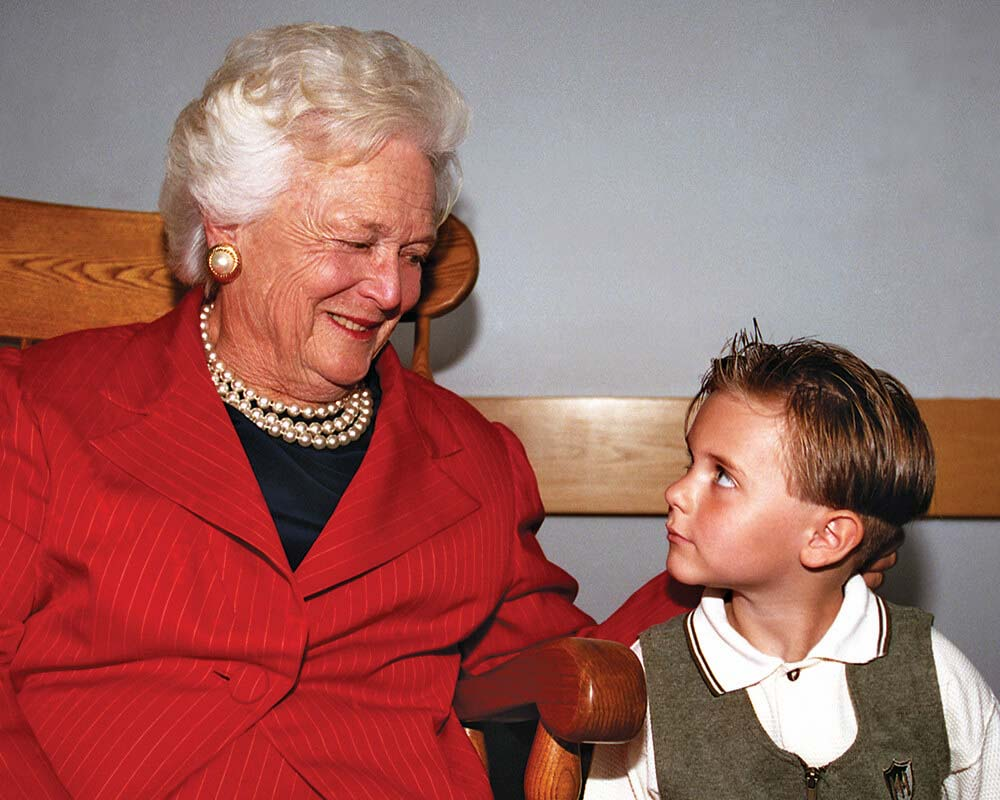 Barbara Bush and Nick