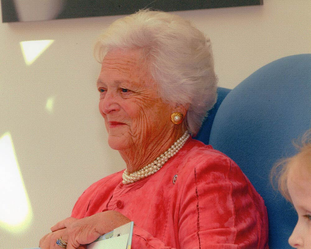 Barbara Bush smiling