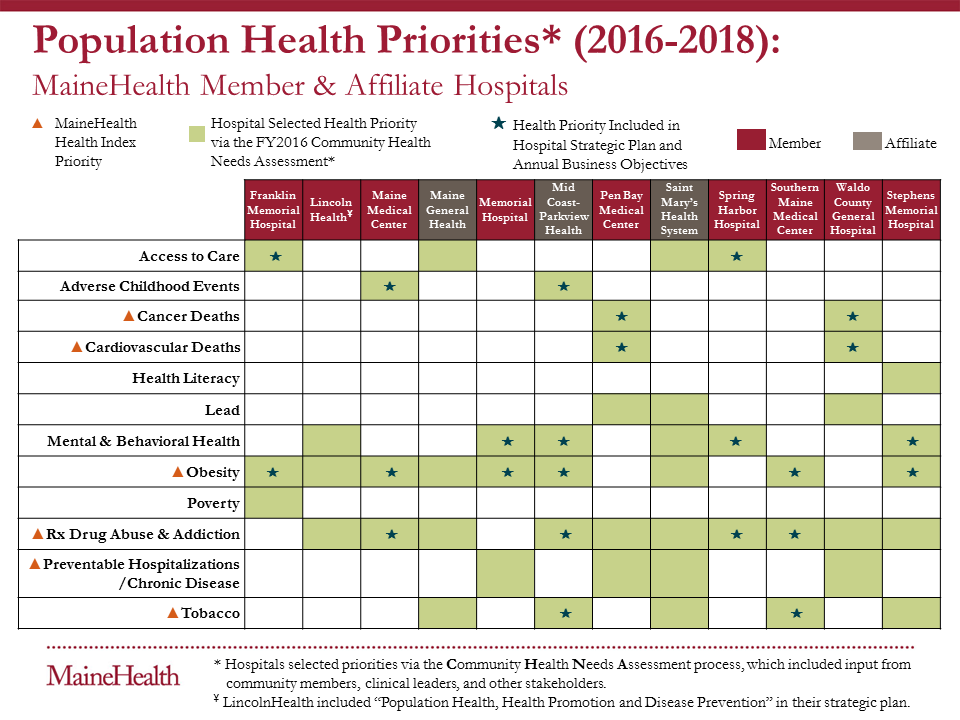 CHNA Priorities Grid