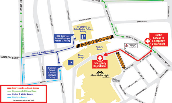 Bramhall Detour Map 2018